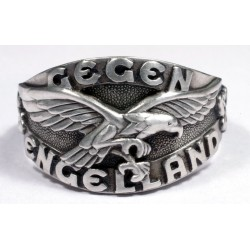 German WWII Ring of Battle of Britain with Airplan