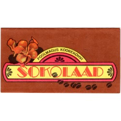 Estonian vintage  chocolate wrapper Kalev