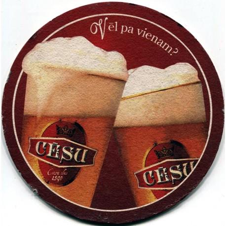 Latvian beer coaster Cēsu alus
