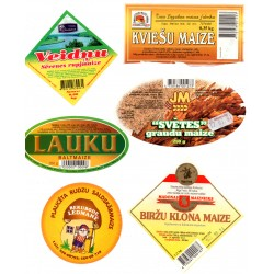 Latvian Bread Label Set