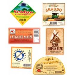 Latvian Bread Label Set