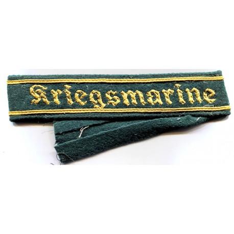 WWII German Kriegsmarine cuff title