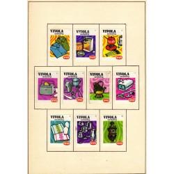 Набор этикеток от спичечных коробков
