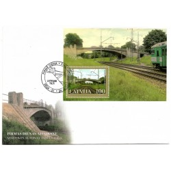 Latvian First Day Cover Latvijas Tilti