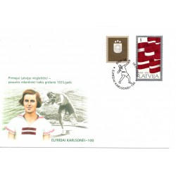 Latvian First Day Cover Elfrīdai Karlsonei 100