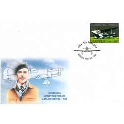 Latvian First Day Cover -Kārlim Irbītim -100