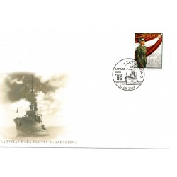 Latvian First Day Cover -Latvijas Kara Flotei 85
