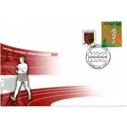 Latvian First Day Cover - Jānim Dālinam 100