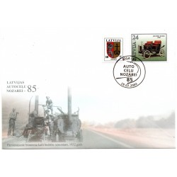 Latvian First Day Cover - Auto Celu nozarei - 85