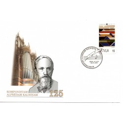 Latvian First Day Cover - Alfrēdam Kalninam 125