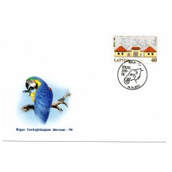 Latvian First Day Cover -Rigas Zoo - 90