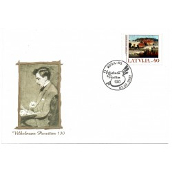 Latvian First Day Cover -Vilhemam Purvitim 130
