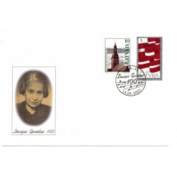 Latvian First Day Cover - Lūcijai Garūtai 100