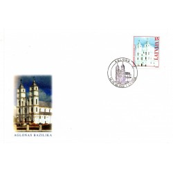 Latvian First Day Cover - Aglonas Bazilika