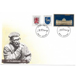 Latvian First Day Cover- J.R.Tillbergam -125