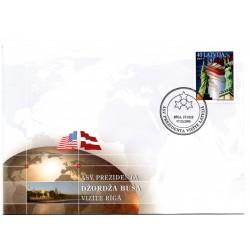 Latvian First Day Cover - ASV Prezidenta vizīte Latvijā