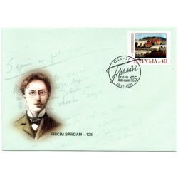 Latvian First Day Cover -  Fricim Bardam -125