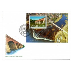 Latvian First Day Cover - Latvijas Tilti