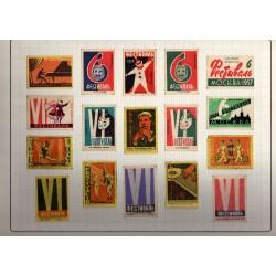 СССР Набор этикеток от спичечных коробков