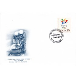 Latvian First Day Cover - Nagano 1998