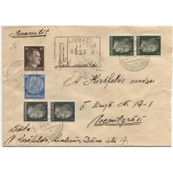 "Lavian Register cover with German occupation stamps ""Ostland"""