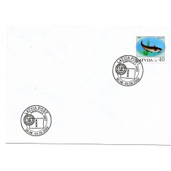 Latvian  Cover  with the first day stamps - Sams