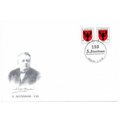 Latvian First Day Cover - Ā.Alunānam 150