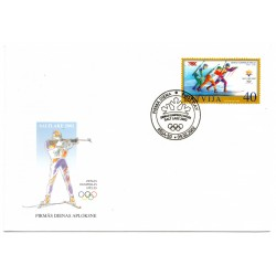 Latvian First Day Cover Saltlake 2002