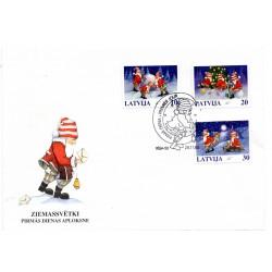 Latvia First Day Cover - Ziemassvētki