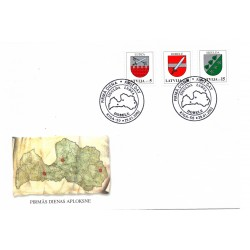 Latvia First Day Cover -  Sigulda Ludza Dobele
