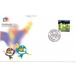 Cover  with the first day stamps Philakorea 2002