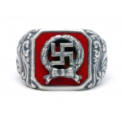 Honor Roll Clasp of the Army ring with enamel