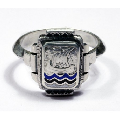 German Silver Estonian Volunteer Ring