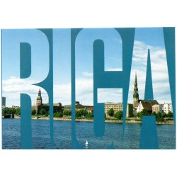 Riga postcards - the view of Riga