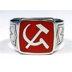 Red Soviet Army Officer`s ring