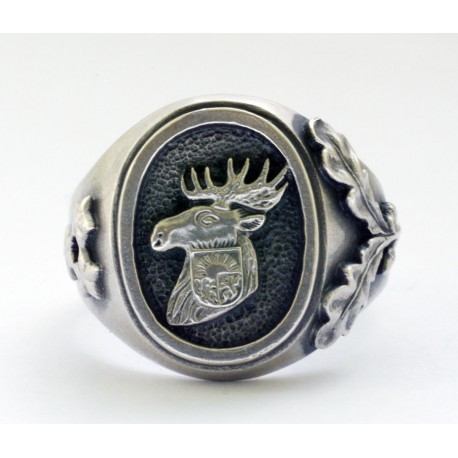 WW II German Latvian-Kurland Castle Kurland silver ring