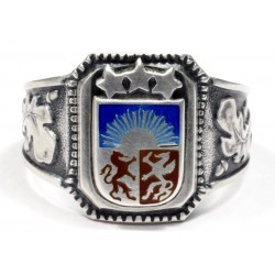 WWII German Silver Latvian Volunteer Ring