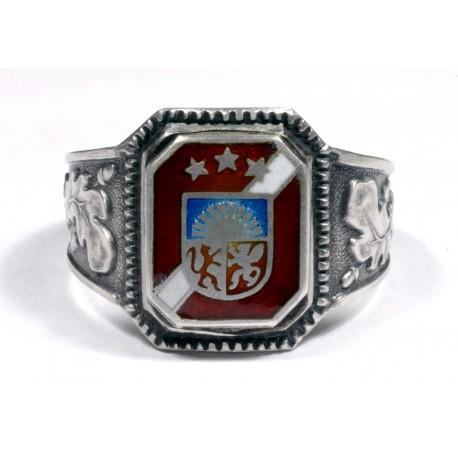German WWII Silver Latvian Volunteer Ring