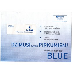 Latvian Phone Bill Envelope (BLUE)
