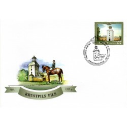Latvian First Day Cover-Krustpils Pils