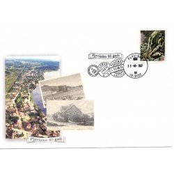 Latvian First Day Cover-Plavinam 80