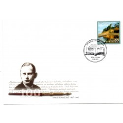 Latvian First Day Cover - Eriks Adamsons