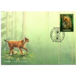 Latvian First Day Cover - Lynx