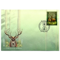 Latvian First Day Cover - Cervus Elaphus
