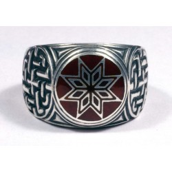 Latvian silver ring - Morning Star