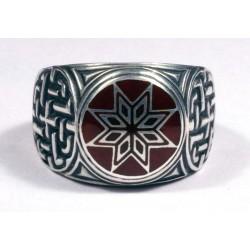 Серебряный перстень Звезда Алатырь