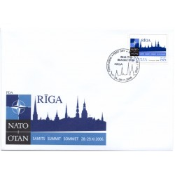 Latvian First Day Cover - NATO samits
