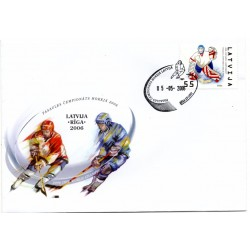 Latvian First Day Cover - World Championship