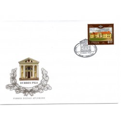 Latvian First Day Cover - Durbes castle