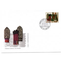 Latvian First Day Cover - Gloves